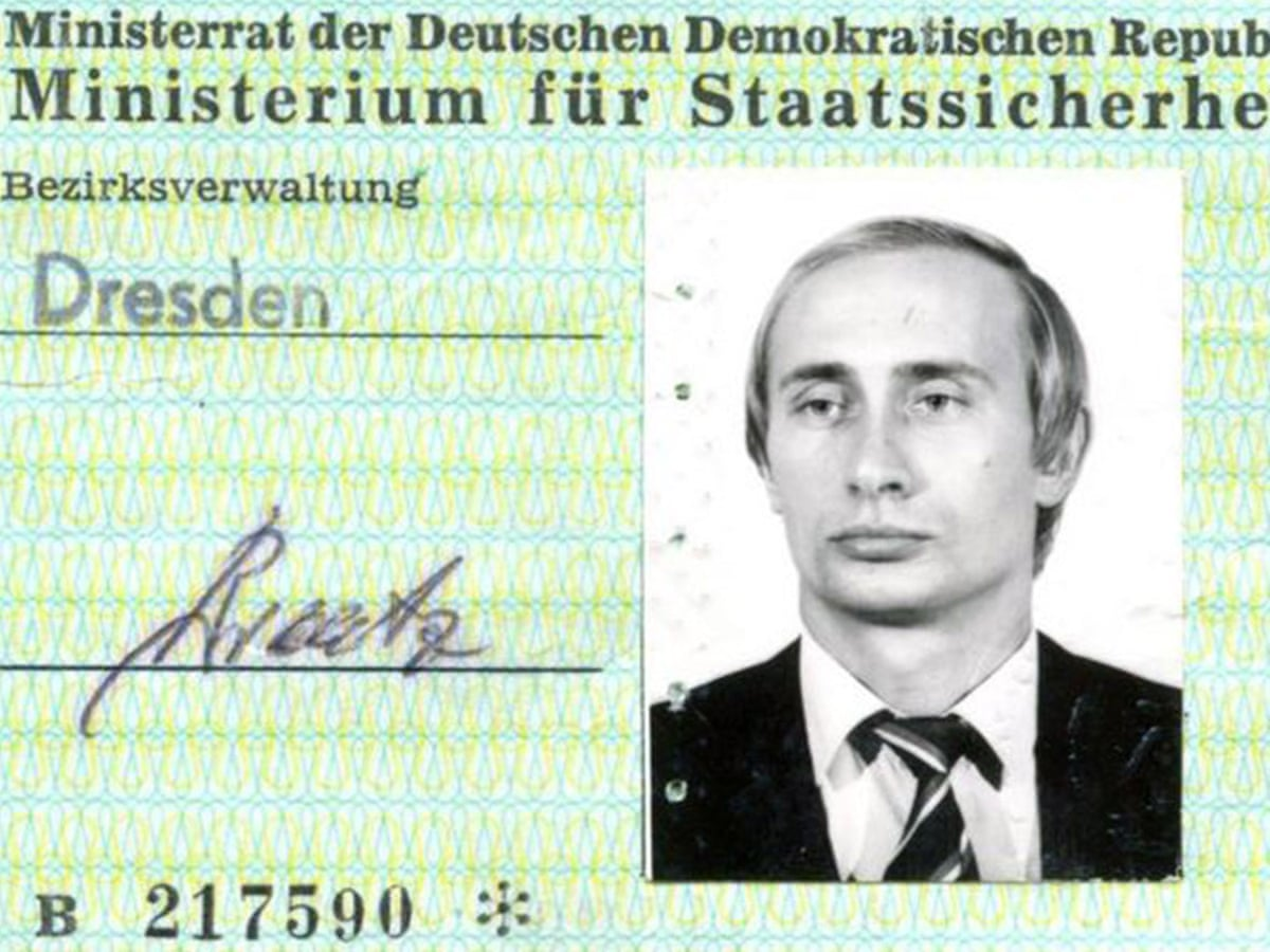 Putin S East German Identity Card Found In Stasi Archives Report Vladimir Putin The Guardian