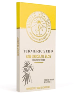Wunder Workshop turmeric x CBD Raw Chocolate Bliss bar