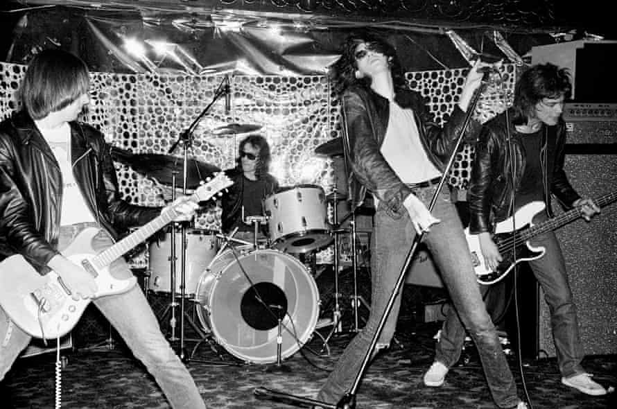 Playing the Phase V club in New Jersey in April 1976, one of their first ventures outside New York City.