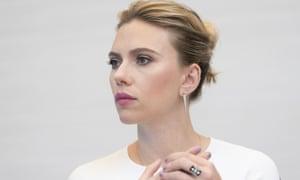 Scarlett Johansson at an Avengers: Endgame photocall in LA.