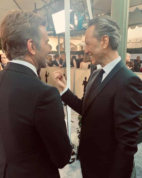 Richard E Grant with Bradley Cooper
