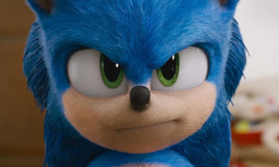 a still from the film version of Sonic the Hedgehog.