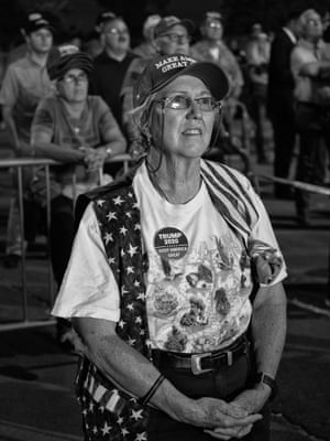 Trump supporter at rally in New Mexico