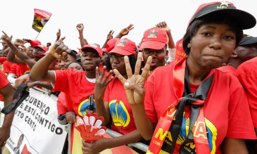 Angola election rally.