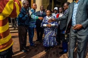 Auxilia Mnangagwa, the wife of the new leader of Zanu-PF, Emmerson Mnangagwa, is congratulated on her reinstatement to the party