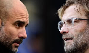 Pep Guardiola's Manchester City are chasing Jürgen Klopp's Liverpool.
