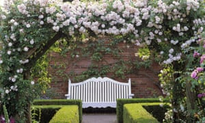 Rose arch at Mottisfont Abbey in Hampshire
