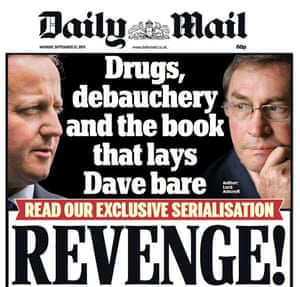The Daily Mail front page, 21 September 2015.