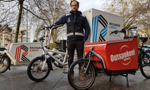 Launch of a cargo bike delivery scheme to help businesses tackle air pollution.