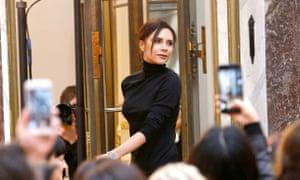 Victoria Beckham at her last New York fashion week show