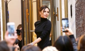 Victoria Beckham at her last New York fashion week show