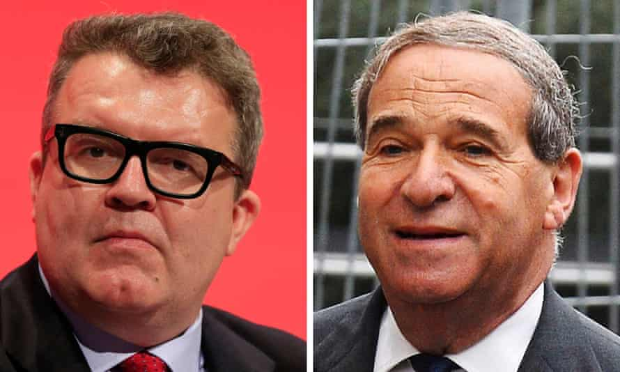 Tom Watson and Leon Brittan (right)