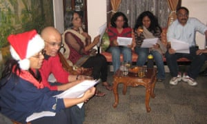 Singing Christmas carols with family and friends, 2012