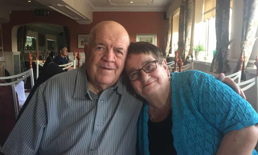 Ruth Newman and her husband, Adrian, on their 50th wedding anniversary in 2016