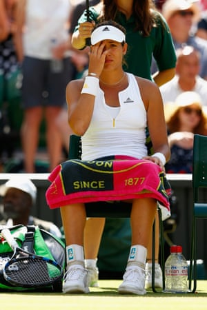 Garbine Muguruza contemplates what could have been.