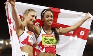 Niamh Emerson and Katerina Johnson-Thompson