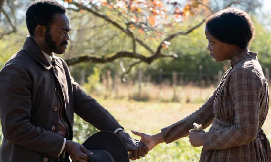 Pockets of happiness … Harper with Thuso Mbedu in The Underground Railroad, based on the Pulitzer-prize-winning novel.