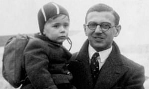 Nicholas Winton with one of the children he rescued.