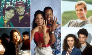 Happy daze: teen shows (clockwise from top left) shows, Byker Grove, A Different World, Dawson's Creek, Press Gang, and My So-Called Life.