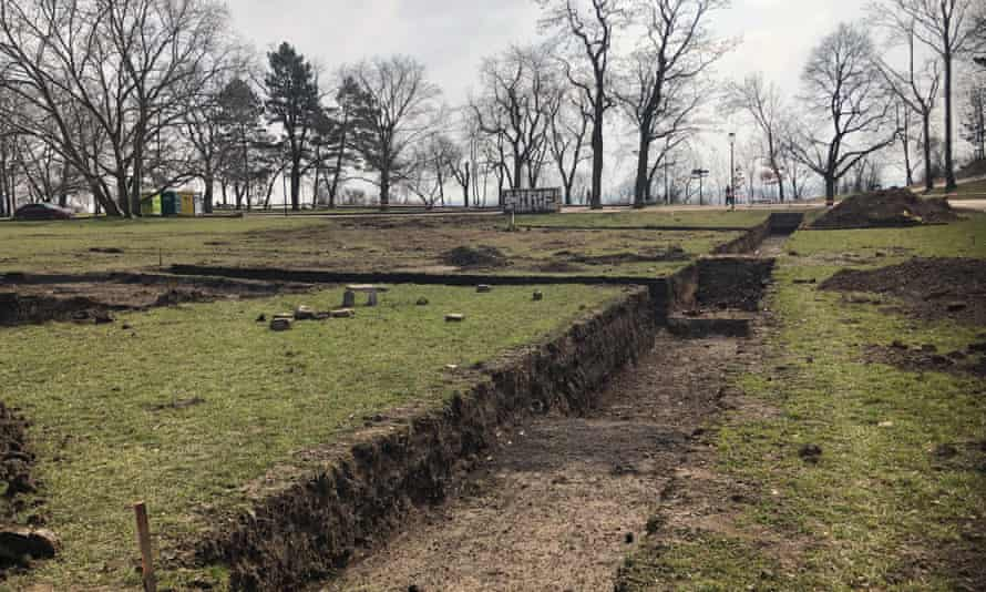 Foundations of the camp, previously unknown to Prague historians, were discovered during a dig.