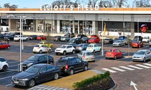 Elliott's Field retail park in Rugby, Warwickshire