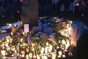 Hundreds of people turned up to a vigil in Bristol after the official event was cancelled.