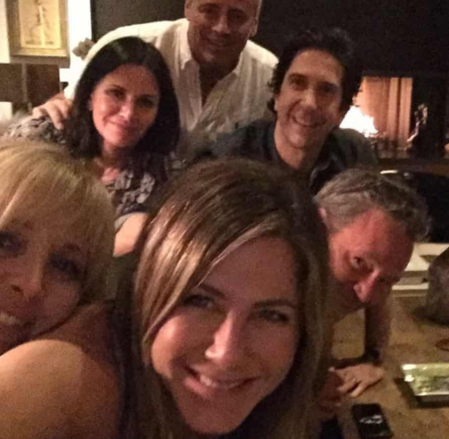 Jennifer Aniston's selfie with her former Friends co-stars