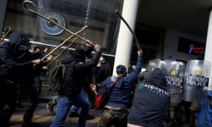 Protesters and police clash in Athens
