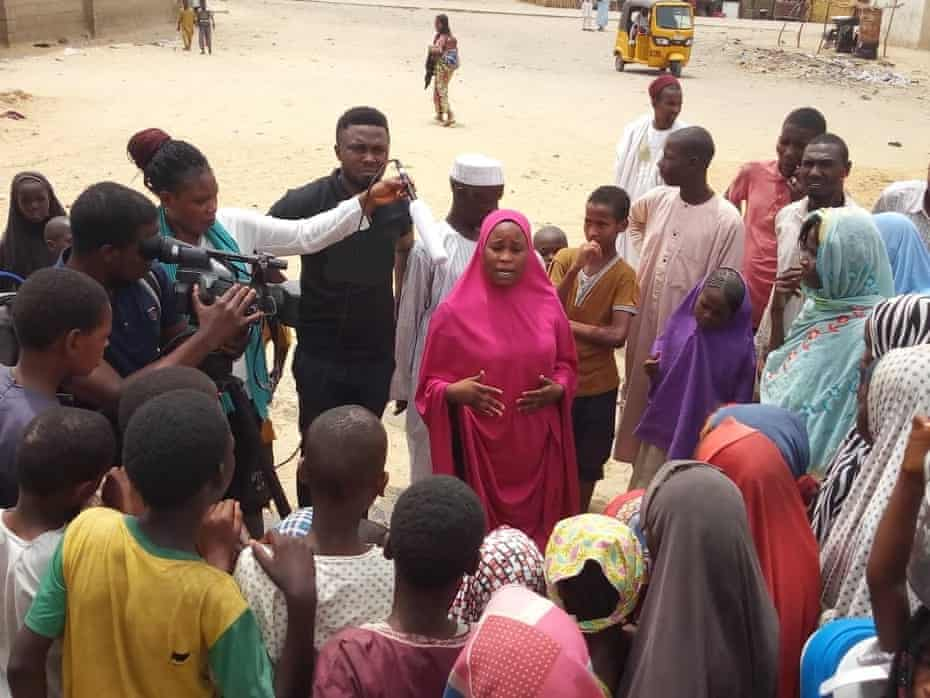 Hadiza, leader of the anti-trafficking campaign group in the Madinatu IDP camp