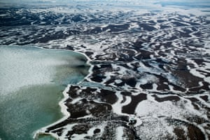 Sea ice on the Hudson Bay close to Rankin Inlet