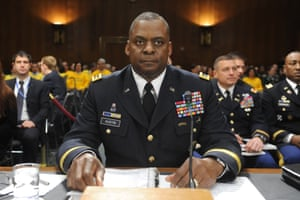 General Lloyd James Austin III appears before the US Senate Armed Services Committee hearing on US policy towards Iraq in 2011.