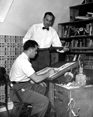 Jack Kirby and Joe Simon, co-creators of Captain America.