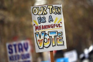 'Our Turn for A Meaningful Vote'