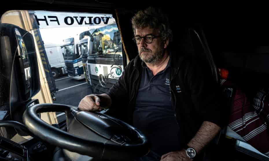Simon Wilkinson in his lorry