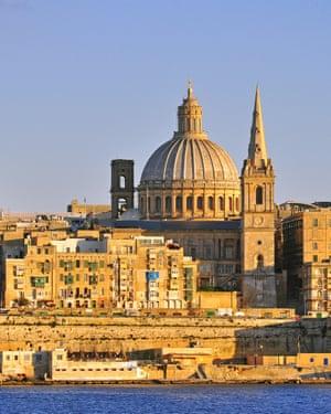 Valetta city, Maltacoast view of Valetta city, Malta