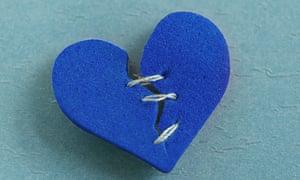 blue mended heart