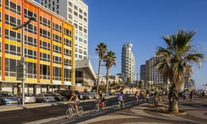 Tel Aviv's seafront cycle path is one of the city's flagship schemes.