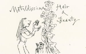 Quentin Blake imagines Matilda (or Matildissima) as a daring hairdresser.