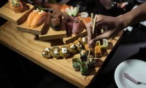 Sushi at the Epic Sana hotel restaurant