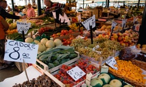 A market in Italy