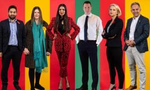 From left: Ali Milani, Nicola Horlick, Faiza Shaheen, John Finucane, Charlotte Holloway and David Nicholl