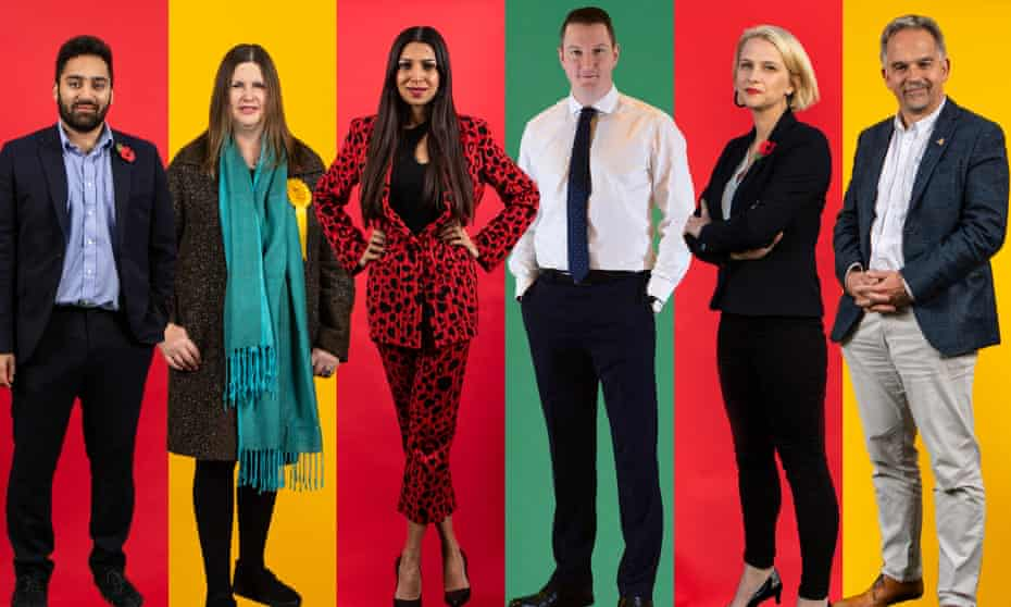 From left: Ali Milani, Nicola Horlick, Faiza Shaheen, John Finucane, Charlotte Holloway and David Nicholl