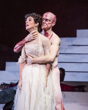 'Like a cat with a mouse': Steven McRae as the Creature with Laura Morera as Elizabeth.