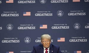 Donald Trump attends a roundtable discussion at Gateway Church in Dallas.