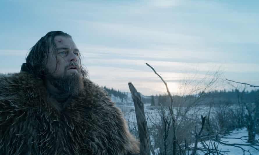 Leonardo DiCaprio as Hugh Glass in The Revenant. Photograph: AP