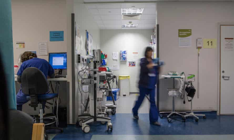 Another day on the ward at a UK hospital. More than 1,000 NHS staff in the Observer and Guardian healthcare network have taken part in a survey which reveals the extent of grave concern over current staffing shortages.