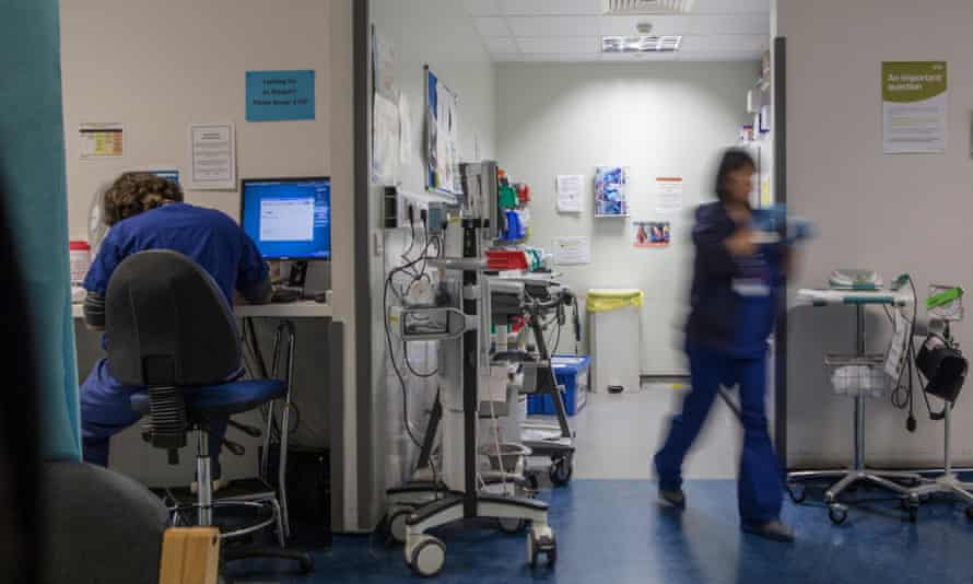 A&E staff at work