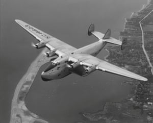 The Boeing B-314, seen here above Long Island in 1939