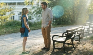 Zosia Mamet and Matthew Shear in The Boy Downstairs.