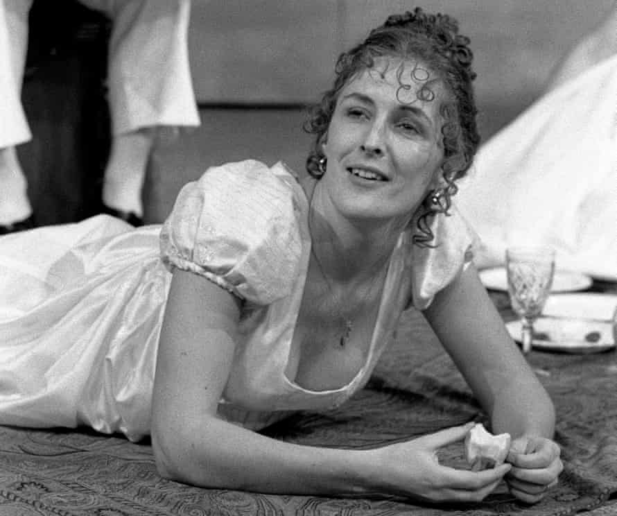 Fiona Shaw as Mary Shelley in Howard Brenton's Bloody Poetry at Hampstead theatre in 1984.